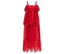 Colette Tiered Broderie-anglaise Linen Dress