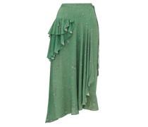 Electra Ruffled Floral-print Crepe Wrap Skirt
