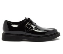 Teddy Chunky-sole Monk-strap Leather Loafers