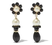 Alder Bead And Faux-pearl Drop Earrings