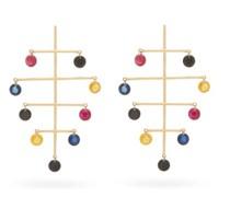 Calder Sapphire, Amethyst & 18kt Gold Earrings