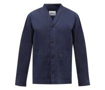 V-neck Organic Cotton-blend Jacket