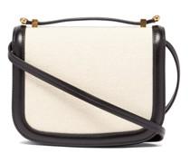 Leather-trim Canvas Cross-body Bag