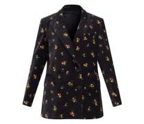 Tulip Double-breasted Cotton-velvet Suit Jacket