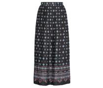 Nolana Pleated Floral-print Satin Skirt