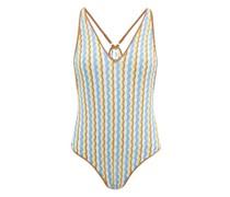 Jo Zigzag-striped Bodysuit