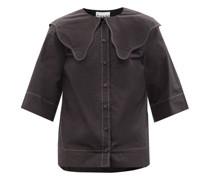 Chelsea-collar Organic Cotton-poplin Blouse