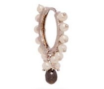 Diamond, Pearl & 18kt White-gold Single Earring
