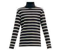 Baglio Roll-neck Striped Cotton-jersey T-shirt