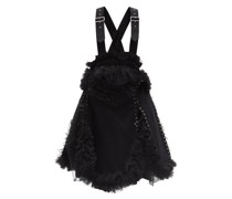 Ruffled Tulle And Cotton-twill Pinafore Dress