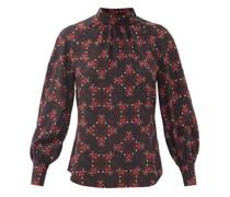 Alicia Floral-print Silk Crepe De Chine Blouse