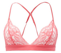 Camellia Chantilly-lace And Charmeuse Triangle Bra