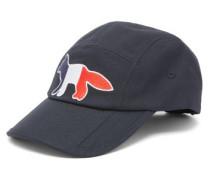 Tricolour Fox-patch Cotton-twill Cap