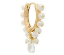 Coronet Diamond, Pearl & 18kt Gold Single Earring