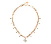 Radiant Diamond & 18kt Rose-gold Choker