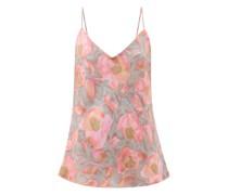 Watercolour Floral-print Silk Cami Top
