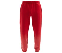 Ombré Brushed-back Cotton Track Pants