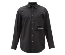 Logo-embroidered Cotton Shirt