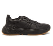 Speedster Exaggerated-sole Leather Trainers