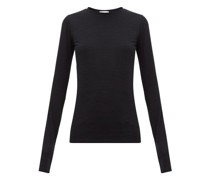 Long-sleeved Slubby Cotton-jersey T-shirt