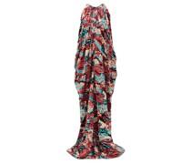 Halterneck Sequinned Gown