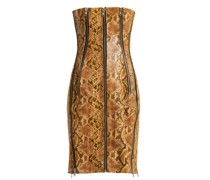 Python-effect Leather Dress