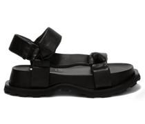 Padded Nappa-leather Flatform Sandals