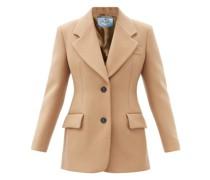 Single-breasted Wool-twill Jacket