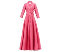 Notch-lapel Belted Gown