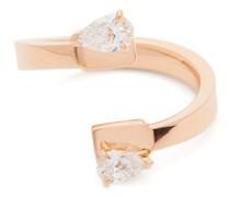 Serti Carrés Alternés Diamond 18kt Rose-gold Ring
