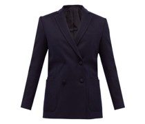 Mathilde Double-breasted Wool-flannel Suit Jacket