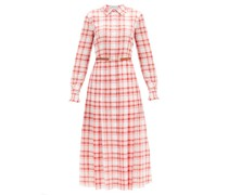 Jane Belted Checked-cotton Midi Shirt Dress