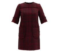 Patch-pocket Wool-tweed Shift Dress