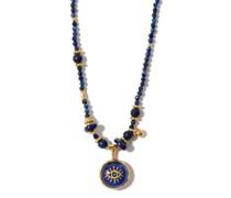 Evil Eye Lapis-lazuli & Gold-plated Necklace