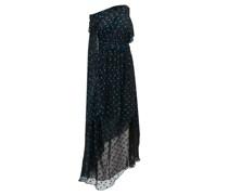 Asymmetrical Polka-dot Silk-blend Dress