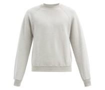 Crew-neck Brushed-back Cotton Sweatshirt