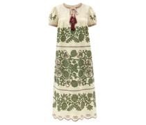 Petra Embroidered Linen Dress