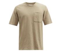 Patch-pocket Slubbed Cotton-jersey T-shirt