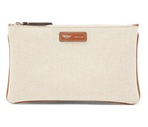 Large Things Multi-zipped Canvas Pouch