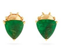 Bebesitos Emerald & 18kt Gold Stud Earrings