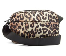 Leopard-print Recycled-fibre Cross-body Bag