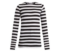 Long-sleeved Striped Slubby Cotton-jersey T-shirt