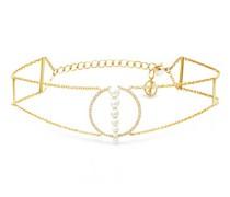 Corne De Gazelle Diamond, Pearl & 14kt Gold Choker