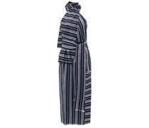 Columbine Halterneck Striped Midi Dress