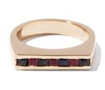 Kit Sapphire-ruby & 14kt Gold Signet Ring