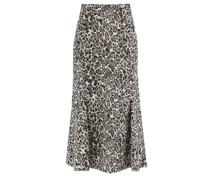 Ivetta Leopard-jacquard Cotton-blend Skirt
