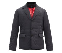 Single-breasted Recycled-shell Down Jacket