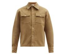 Matsy Flap-pocket Brushed-cotton Jacket