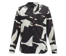 Swan-print Organic-cotton Pyjama Shirt