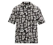 Broken Logo-print Cotton Short-sleeved Shirt